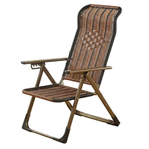Fauteuils inclinables Chaise Pliante Inclinable Bureau Siesta Vieille Chaise Paresseuse Chaise En Osier Extérieure Chaise De Plage Décontractée Pêche En Plein Air Par Le