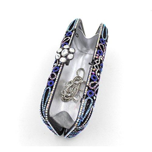 Sacchetto Di Banchetto Di Diamante Di Alta Qualità Del Sacchetto Di Sera Di Diamante Di Lusso Delle Donne A