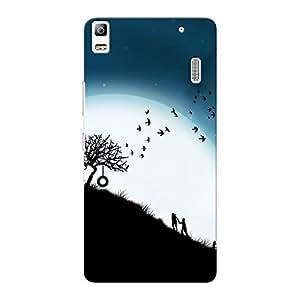 Mobile Back Cover For Lenovo A7000 Plus (Printed Designer Case)