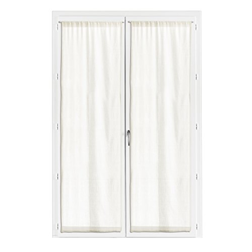 2 Voile Curtains Touch White L/190x 70