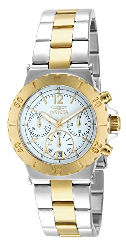Invicta 14855 Specialty Women's Wrist Watch Stainless Steel Quartz White Dial
