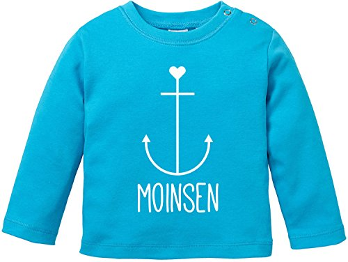 EZYshirt Moinsen | Hamburg | Moin Moin | Anker Baby T-Shirt Longsleeve Bio Baumwolle