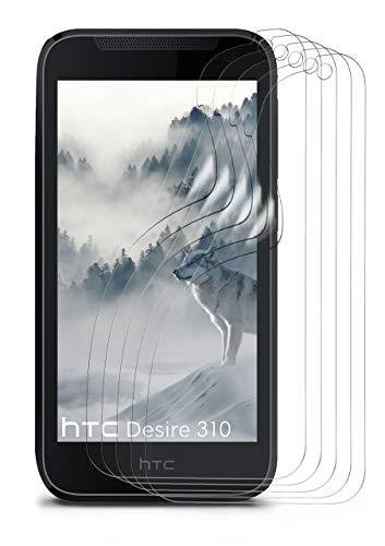 moex 5X HTC Desire 310   Schutzfolie Klar Bildschirm Schutz [Crystal-Clear] Screen Protector Display Handy-Folie Dünn Bildschirmschutz-Folie für HTC Desire 310 Bildschirmfolie