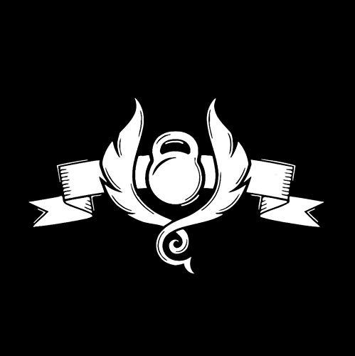 Autoaufkleber 16,5 * 9,8 CM Coolste Gym Elite Wasserkocher glocke Workout Sport Decor Auto Aufkleber Silhouette Vinyl Motorrad 2 Stück (Elite Wasserkocher)