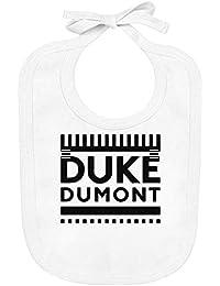 Speno Apparel Herzog Dumont Logo - Duke Dumont Logo Organic Baby Bib with Ties 100% Soft Cotton Baby Clothing
