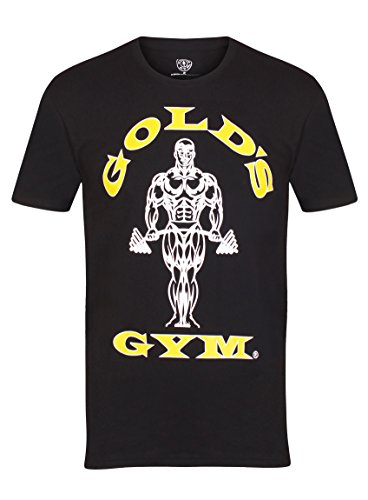 Gold´s Gym GGTS-002 - Camiseta para Hombre, Color Negro, Talla M