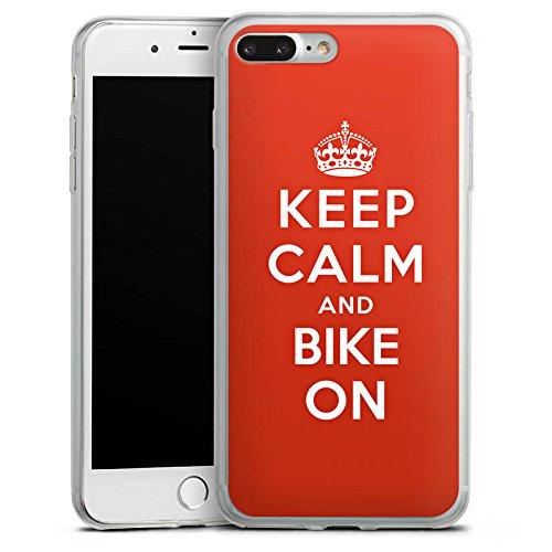 Apple iPhone X Slim Case Silikon Hülle Schutzhülle Keep Calm Biker Motorrad Silikon Slim Case transparent