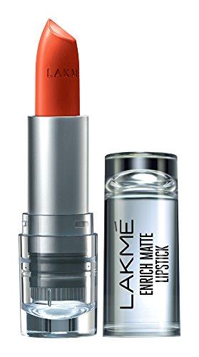 Lakme Enrich Matte Lipstick, Shade OM10, 4.7 g
