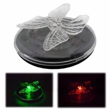 l'énergie solaire LED changement de couleur rgb lumière flottante papillon libellule
