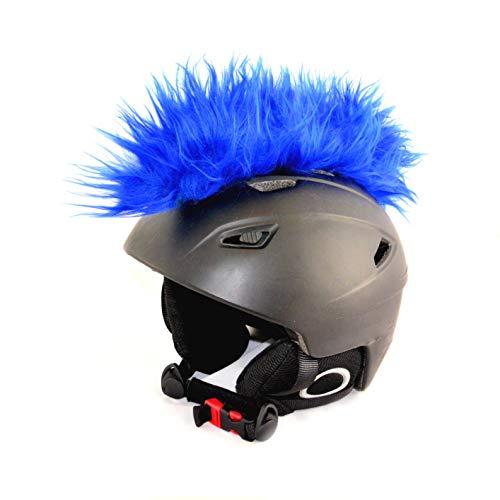 Helm-Irokese für den Skihelm, Snowboardhelm, Kinderskihelm, Kinderhelm, Motorradhelm oder Fahrradhelm - Iro-Helmcover - für Kinder und Erwachsene HELMDEKO (Blau)