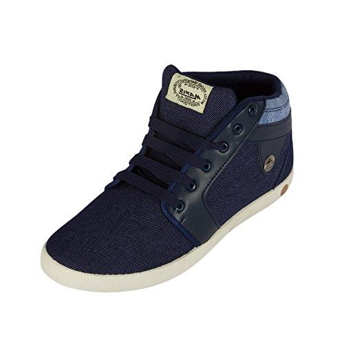 Maxis Men's Blue Canvas Casual Shoes-8 UK