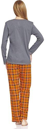Cornette Damen Schlafanzug CR-655-Cats2 Grau
