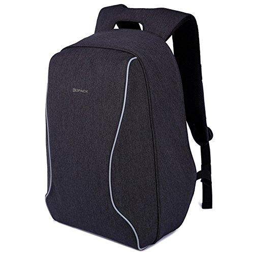 Kopack antifurto zaino da viaggio portatile back pack leggero scansione intelligente tsa amichevole nero freddo per un massimo di 16 più 17 pollici