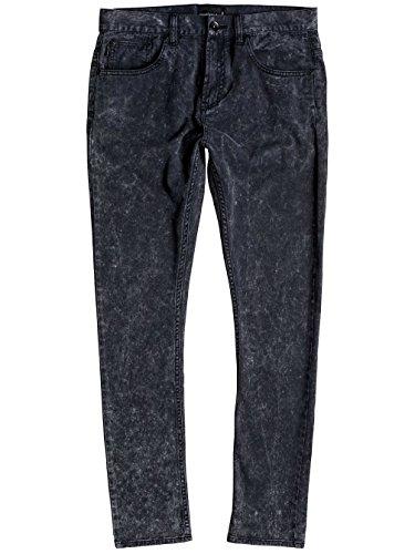 Quiksilver Low Bridge - Pantalones Pitillo Ajustados Para Hombre Black