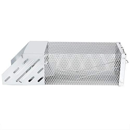 Jaula Trampa para Ratones, Trampa Resistente para roedores Jaula Trampa para roedores Control de Ratas Colector para Sala de Estar de Cocina de Oficina, Hierro galvanizado, Plata