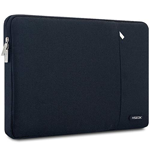 HSEOK 15,6 Pouces Housse de Protection Ordinateur Portable, Laptop Sleeve Case PC Netbook Ultrabook Sacoche Compatible 15-15,6 Pouces pour MacBook Acer ASUS Dell Fujitsu Lenovo HP Toshiba, Noir