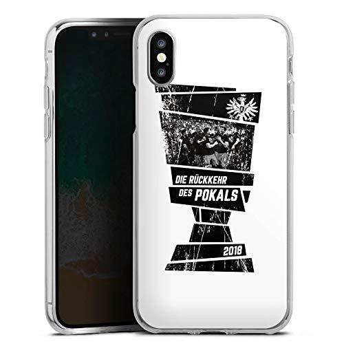 DeinDesign Apple iPhone XS Silikon Hülle Case Schutzhülle Eintracht Frankfurt Adler Pokal Finale