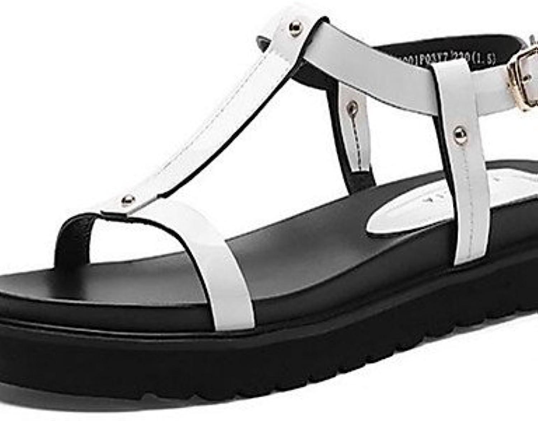 GGX/Damen Schuhe PU Sommer Heels Heels Casual Chunky Ferse andere weiß