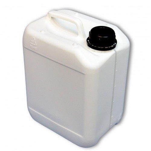 5 Liter Kanister weiß mit Sichtstreifen (DIN 45)
