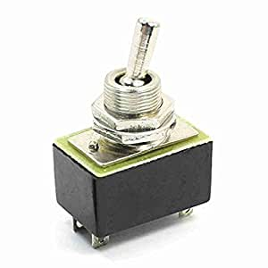 Plattenmontage DPST ON / OFF 2 Position Toggle Switch AC 220 V 3A KN3A 1X2