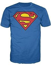 Superman DC Comics Logo Classic Official Men's T-Shirt (Royal Blue)