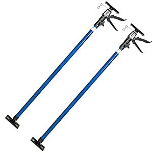 tectake 800396 – Set de Puntales 115-290 cm, Expansión Telescópico, Reforzado Soporte para Techos – disponible en varios Modelos (2x Azul | No. 401692)