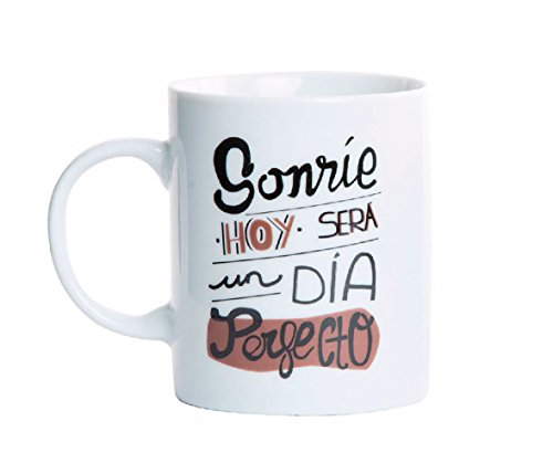 Item Taza con diseño de Frases Optimistas, Porcelana,...