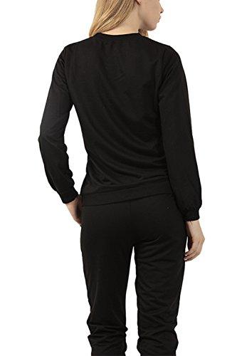 Veste Blouson pull des femmes avec Zip Black