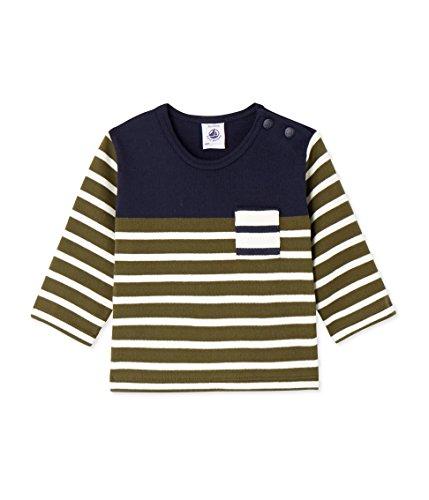 Petit Bateau Baby-Jungen Sweatshirt Mariniere, Mehrfarbig (Crocodile/Multico 49), 86 (Herstellergröße: 18m/81cm) (Pullover Bateau-ausschnitt)