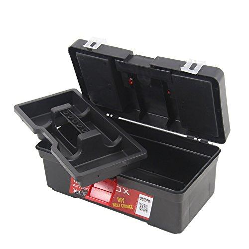 """Kunststoff Werkzeugkoffer Classic Profi 12""""', 31x18cm Kasten Werzeugkiste Sortimentskasten Werkzeugkasten Anglerkoffer - 6"""