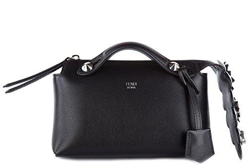 Fendi-womens-leather-handbag-shopping-bag-purse-by-the-way-mini-black