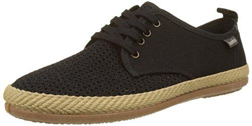 Wamba Di Victoria Unisex-adulto Blucher Rejilla / Lona Sneaker, Blu Nero (negro)