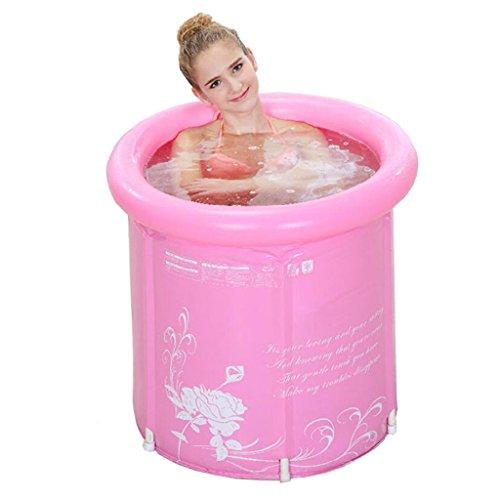 SYF Zylindrisches, Tragbares Badefass   Badewannenkörperisolation Wärme   Faltbares Demontage-Badefass   Wannenhalter Für Erwachsene   Super Dickes PVC A++ (Farbe : B)