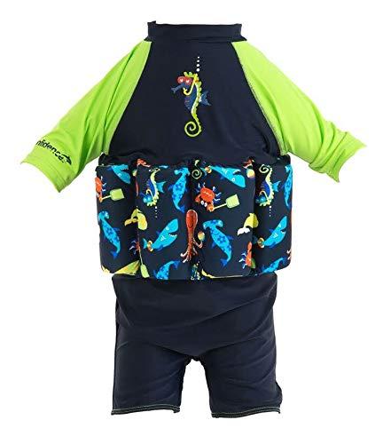 Konfidence Badeanzug Float Suit mit Integriertem Auftrieb Seabisket für Optimale Armfreiheit 1-2 Jahre
