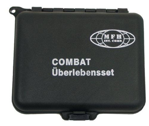 MFH Überlebensset Combat Wasserdichte Box, schwarz, 27115