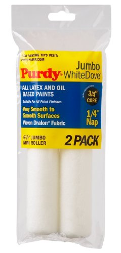 purdy-140626010-white-dove-with-1-4-nap-jumbo-mini-roller-replacements-case-of-6-6-1-2