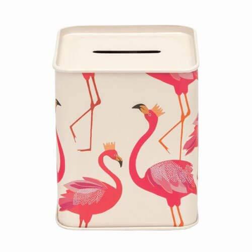 Elite tins Sara Miller Flamingo Lata Caja Dinero