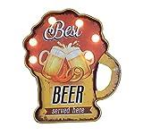 LBDM Paris Plaque métal Cadre enseigne LED Lumineuse Best Beer USA déco