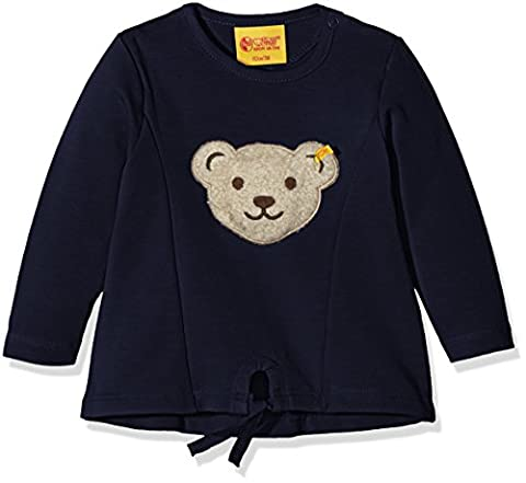 Steiff Collection Mädchen Sweatshirt Sweatshirt 1/1 Arm, Gr. 80, Blau (black iris 3800)