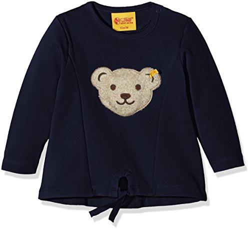 Steiff Collection Mädchen Sweatshirt Sweatshirt 1/1 Arm, Gr. 116, Blau (black iris 3800)