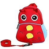Kleinkinder Rucksäcke, Kinder Cartoon Animal Rhinoceros Rucksack mit Geschirr Kindergarten Pre School Bag für Mädchen