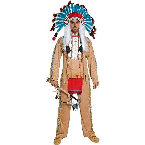 Imagen de smiffy's  disfraz de indio del oeste para hombre, talla m sm36160 m