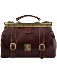 Tuscany Leather - Mallette médecin cuir - Marron