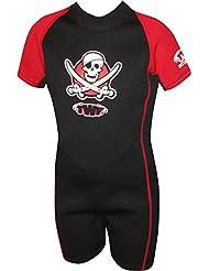 TWF -  Combinaison de plongée Pirate pour enfant- Rouge, 9-10 ans, K5