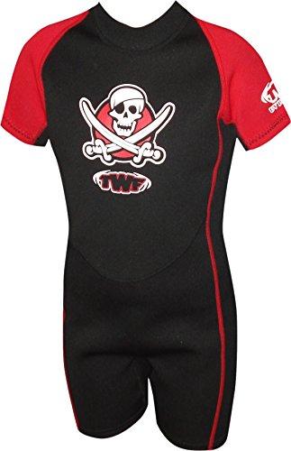 TWF Piraten-Neoprenanzug für Kinder - rot, 3-4 Jahre, K1