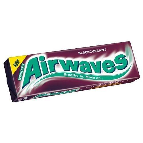 Airwaves Blackcurrant Sugarfree Chewing Gum 10 Pieces