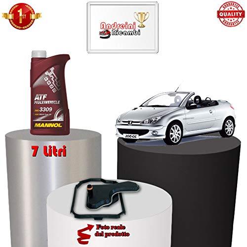 KIT FILTRO CAMBIO AUTOMATICO E OLIO 206 cc 1.6 80KW 109CV 2007 -> 1712