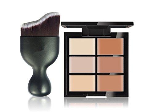 FantasyDay® 6 Couleurs de Maquillage Crème Visage Lèvres Anti-cernes Mettez en Surbrillance Contour Correcteur Camouflage Palette Fond de Teint Pour Cosmétique + 1PC Pinceau Maquillage #2