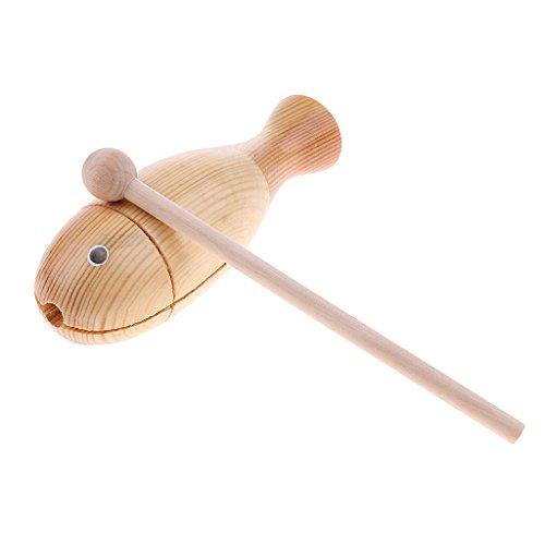 Homyl Baby Kinder Spielzeug Fisch geformt Schlag Instrument Handgefertigten aus Holz Rasseln Baby Musik