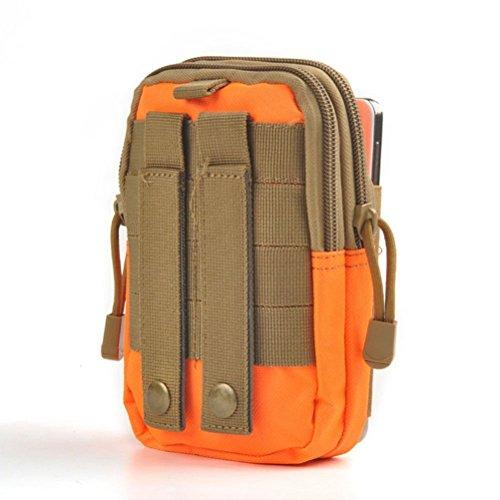 Vicloon Sacchetto Multifunzionale della Cinghia Tattica Resistente a Alpinismo,Ciclismo,Trekking,ecc Arancione
